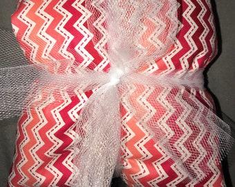 Heating Pad: Red & White Chevron