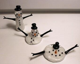 Melting Snowmen Sculptures
