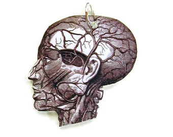 Necklace Anatomy Head Small Pendant Gifts for her