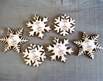 60 Snowflake Wedding Favors Winter wedding