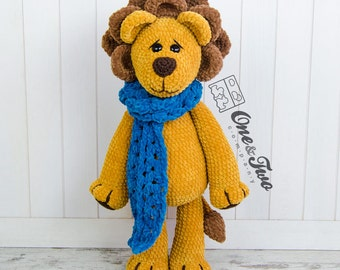 "Elliot the Big Lion ""Big Hugs Series"" Amigurumi - PDF Crochet Pattern - Instant Download - Amigurumi Cuddy Stuff"