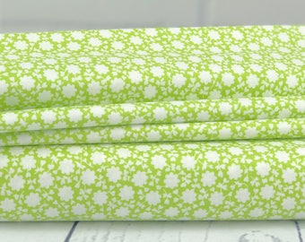 The Good Life - Green Floral Carefree Fabric - Bonnie & Camille - Moda Fabric - Floral Fabric - Green Fabric - 55156-14