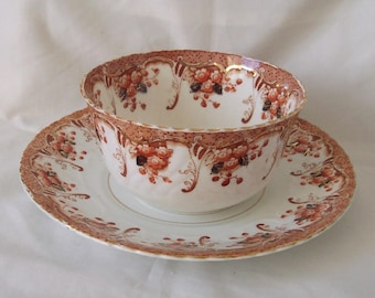 Deco Sugar / Sweet Bowl with Under Plate in Trent Pattern c.1930