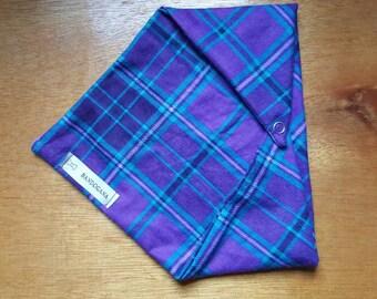 Purple Flannel Dog Bandana