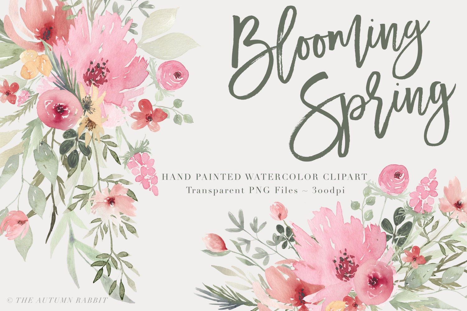 Watercolor flowers clipart files high res transparent png - High resolution watercolor flowers ...
