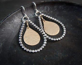 sun & earth … mixed metal earrings