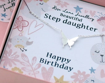 Step daughter birthday gift,Jewellery,Step daughter jewellery,Charm necklace,pendant, beautiful gift, Step daughter necklace,Birthday gift.