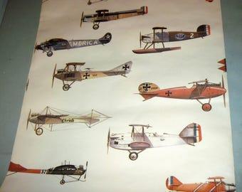 Roll Vintage Airplane Wallpaper