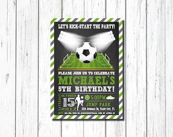 Soccer Invitation Soccer Birthday Invitation Soccer Party