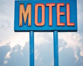 Value Inn - Neon Motel Sign Photograph