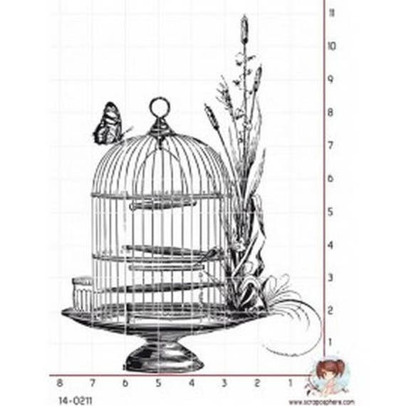 """Pattern """"antique Cage"""" rubber stamp mounted on foam"""