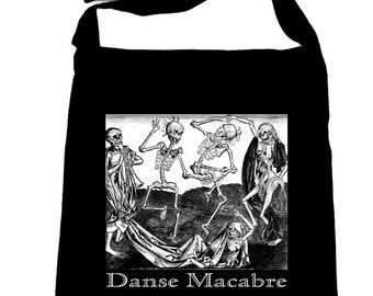 The Dance Of Death Danse Macabre Crossbody Sling Bag Skeletons - DYS-SB-017