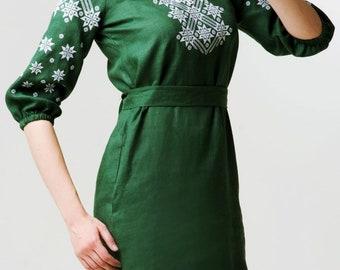 Dress Ukrainian Vyshyvanka Dress Embroidered Women Dress