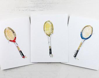 Tennis Cards - Tennis Racquet Cards - Tennis Lover Cards - Cards for Tennis Lovers