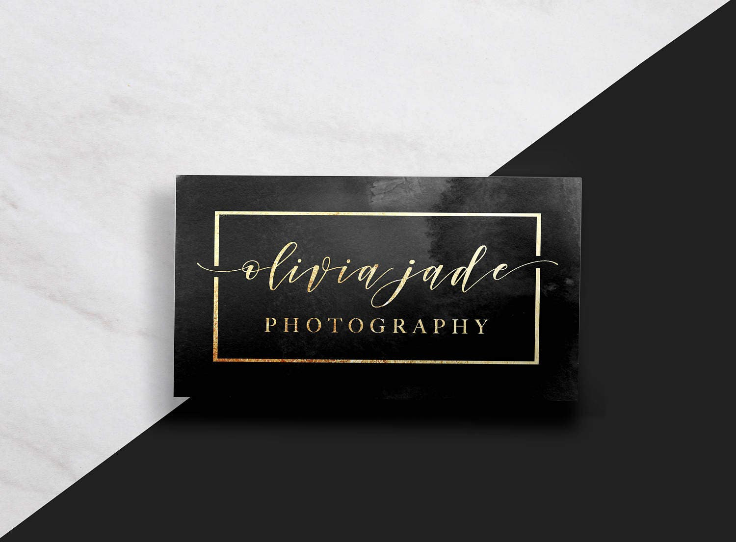 Modern business card gold business card black and gold