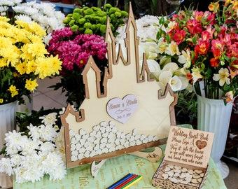 Disney, Wedding Guest Book, Wedding Guest Book Alternative, Mason Jar Wedding, Drop Box, Mason Jar Guest Book, Unique Wedding Sign, Wedding