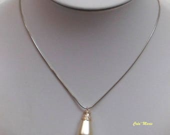 Wedding ivory Co294 drop necklace
