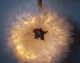 Luminous wreath suitable for indoor and outdoor