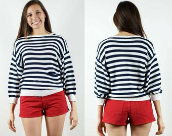 1980s Striped Sweater