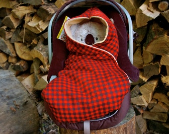 Plush shell - Car Seat Blanket
