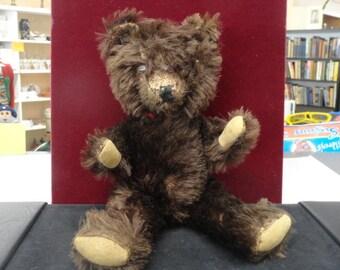 1940's/ 1950's Teddy Bear with glass eyes.