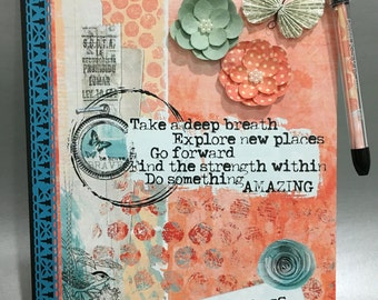 Be Fearless - Altered Composition Notebook / Journal