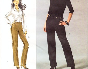"""Waist 26 1/2"""" to 50 1/2"""" - Vogue Pants Pattern V2913 by SANDRA BETZINA - Misses' Straight Leg, Fly Front, Fitted Pants - OOP Vogue Patterns"""