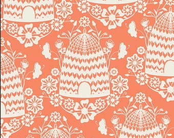 Art Gallery Fabrics Honey House Peach - Sweet as Honey Collection by Bonnie Christine - Premium Cotton Quilting Fabric - One Yard