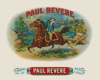 Paul Revere's Midnight Ride American Revolution Vintage Antique Advertising Art HQ 11x14 Limited Edition Giclee Wall Home Decor Poster Print
