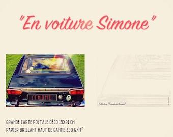 """Postcard deco large format """"drive Simone"""""""