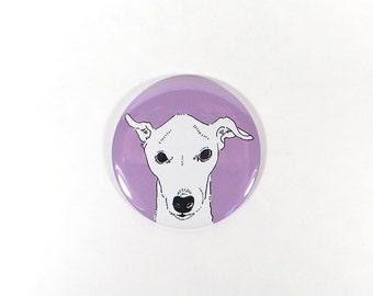 Italian greyhound magnet - whippet dog magnet - italian greyhound dog gift - illustrated dog - puppy present - dog lover owner gift - cute