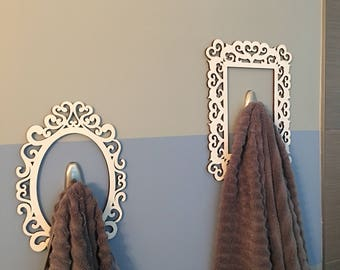 Cute easy towel hook decor