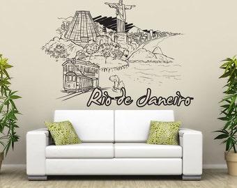 Vinyl Wall Decal Sticker Rio De Janeiro 1392s