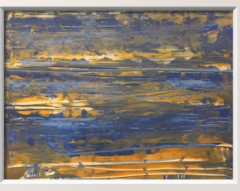 Original abstract landscape 18x24 on heavy art paper titled SHINING SEA
