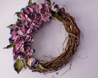 Front Door Wreaths, Door Wreath, Wedding Wreath, Door Wreaths, Pink Peony Wreath, Year Round Wreath, Spring Summer Fall Winter Door Wreaths