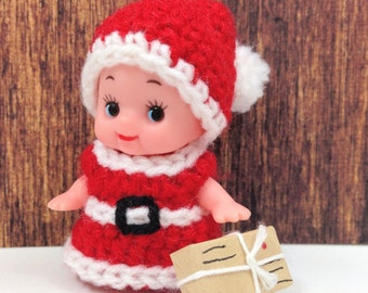 Santa Girl Kewpie Costume Crochet Pattern (Pattern only NOT the finished doll)