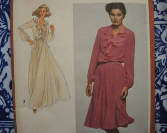 vintage 1980s Simplicity sewing pattern 9655 pullover dress in two lengths size 18/20