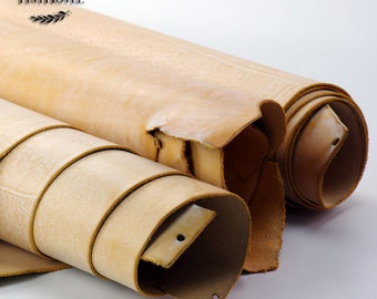 Yellow Leather Scraps, Leather Offcuts, Yellow of Leather Off Cuts, Genuine Cowhide Leather Scraps, Leather Crafts L018