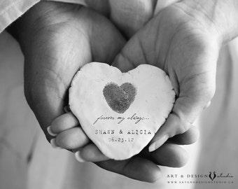 Thumbprint Guestbook, Fingerprint Guest Book, Fingerprint Poster, Fingerprint Heart, Personalized Wedding Anniversary Gift, Custom Print