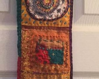 Vertical Textile Art Wall Hanging