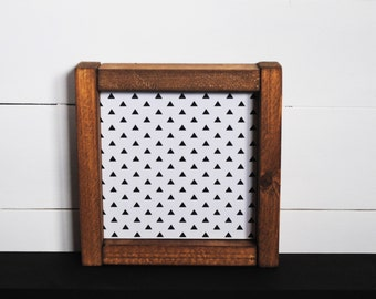 Geometric - Mini Wood Sign