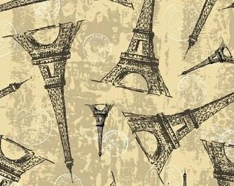 Destination Paris Eiffel Tower in Cream 42498-2 by Whistler Studios for Windham Fabrics