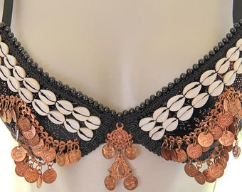 ATS  34B Bra with copper and cowries