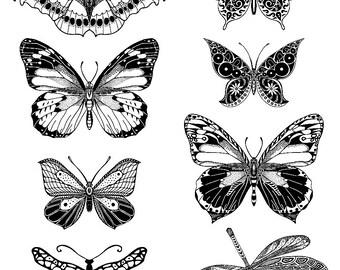 Butterfly Temporary Tattoo - Temporary Tattoos - Tattoo - Temporary Tattoos