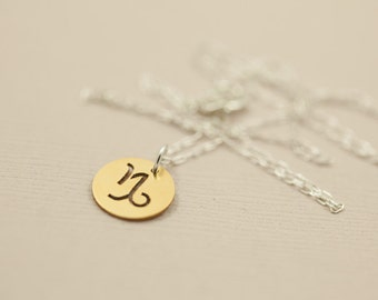 Zodiac necklace, dainty necklace, zodiac charm, zodiac jewelry, constellation necklace - gold pendant sterling silver necklace