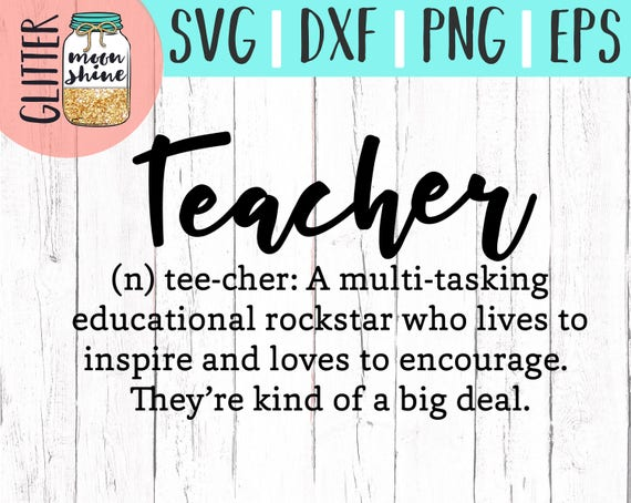Teacher Definition Svg Eps Dxf Png Cutting Files For