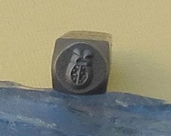 Metal Stamp - Ladybug - 6mm - Lady Bug Stamp - by Beadsmith