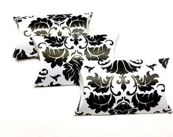 Pillow Boxes Pillow Box Favor Pillow Boxes Custom Pillow Box Small Pillow Boxes Mini Pillow Boxes Black And White Damask