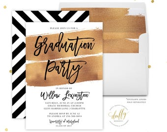 Graduation Party Invitation, College Graduation Invitation, Graduation Party Invitation Printable, Graduation Party Invites, Printed Invite