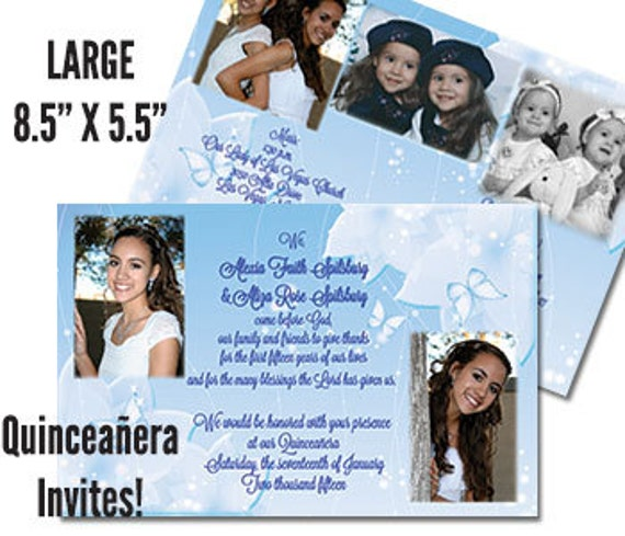Twin Quinceanera Invites Sweet 15 Invitations Mis Quince Anos